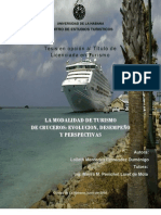 Turismo Cruceros Evolucion Perspectivas