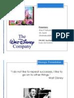 Walt Disney Strategy SSS