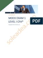 Soleadea Mock Exam 1 Level I CFA