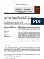 """Questioning Chase and Simon's (1973) """"Perception in Chess"""" The """"experience recognition"""" hypothesis"""