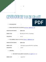 Un Simple Generador Van de Graaff