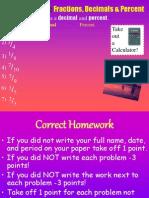 b) Percent Shortcuts