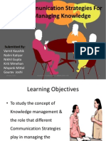 Communication Strategies For Managing Knowledge