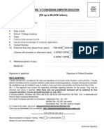 APPLICATION FORM FOR FREE / AT CONCESSION COMPUTER EDUCATION