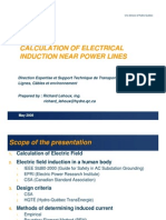 Calculation of Electrical Induction Near Power Lines