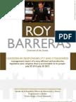 Management Report Senator Roy Barreras