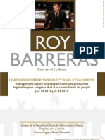 Management Report Senator Roy Barreras