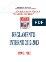 Reglamento Interno 2012-2013 - I.E. Bandera del Perú - Pisco