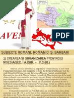 subiecte romani, romanici şi barbari
