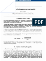 Factor Effecting Poultry Quality