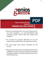 GENIOS DE LAS LETRAS
