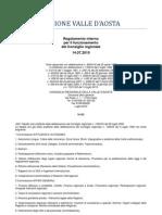 51. Regolamento Interno Consiglio Valle d'Aosta 14.07.2010 - Note Tabella