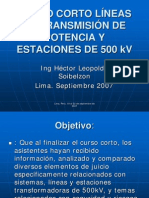 Curso de LL.TT 500 kV