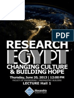 Alexandria ACM Student Chapter | Research in Egypt | Changing Culture & Building Hope