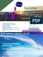 Folleto Summer WebCamp Elocuent 2013