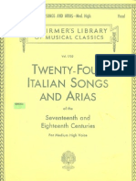 Twenty Four Italian Songs & Arias (Piano & Voz)