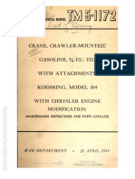 Tm 5-1172 CRANE, CRAWLER MOUNTED, KOEHRING MODEL 304, 1944
