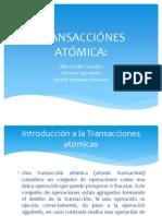 TRANSACCIÓNES ATÓMICA