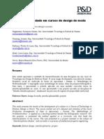Interdisciplinaridade Em Cursos de Design de Moda