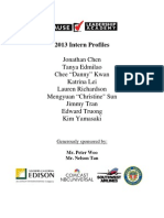 Leadership Academy 2013 Intern Profiles