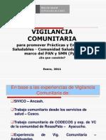 1. Vigilancia Comunitaria en Pan y Smn- Comunidad Saludables 2011