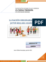 Modulo III. Nacion Originaria Jatun Killaka Asanajaqi