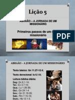 ABRAÃO - MISS.O - Lição 5