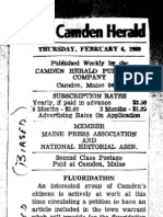 Camden Herald Fluoridation Editorial 1969