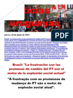 Noticias Uruguayas Jueves 20 de Junio Del 2013