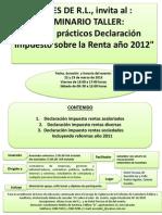 Seminario Taller Casos Practicos ISR 2012