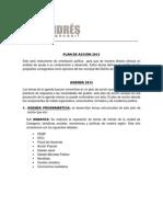 PLAN DE ACCIÓN 2013 ANDRES BETANCOURT pagina web