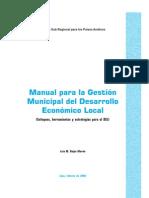 OIT Manual Para La Gesti%C3%B3n Municipal Del Desarrollo Econ%C3%B3mico Local. 2006