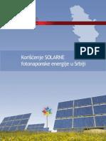 KORIŠĆENJE SOLARNE FOTONAPONSKE ENERGIJE U SRBIJI