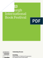 2013 Edinburgh International Book Festival Brochure