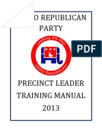 2013 idaho precinct leader training manual