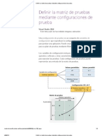 Definir La Matriz de Pruebas Mediante Configuraciones de Prueba