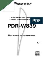Pioneer Pdr-w839 Manual