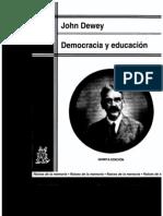 democracia y educación dewey