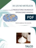 Mineria de los No Metálicos mundo primeros productores
