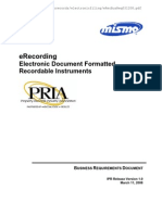 eRecording Electronic Document Formatted