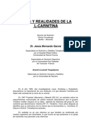 carnitina para bajar de peso pdf