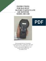 HD-1100 Instruction Manual