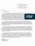 three oaks elementary letter of recommendation