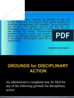 Grounds for Disciplinary