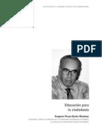 Gregorio Peces Barba - La educación para la ciudadania