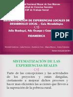 Sistematización Modelo Fidamerica