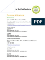 Certified Products Listing (as at 18 Oct 2012)