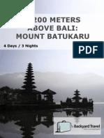 2,200 Meters Above Bali Mount Batukaru -4 Days 3 Nights-Inat01