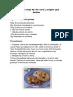 Galletas Con Chips de Chocolate y Jengibre Para Navidad