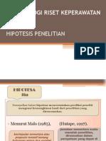 PRESENTASI HIPOTESIS